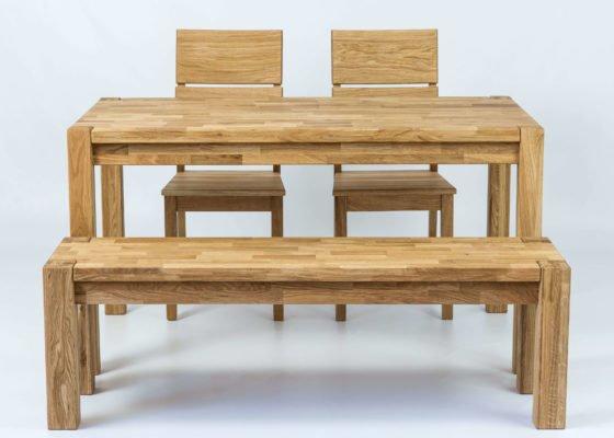 Столешница, скамья и стулья