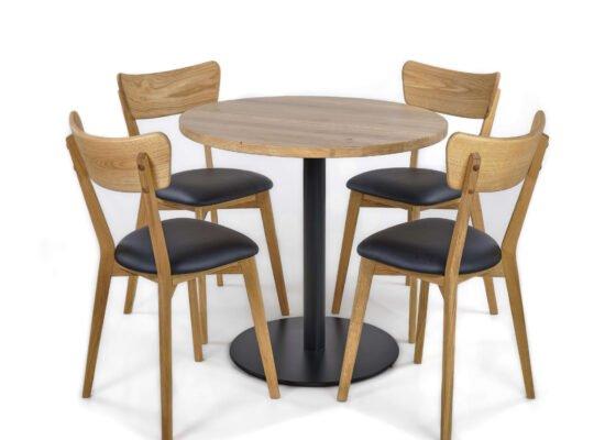 Table on a metal leg